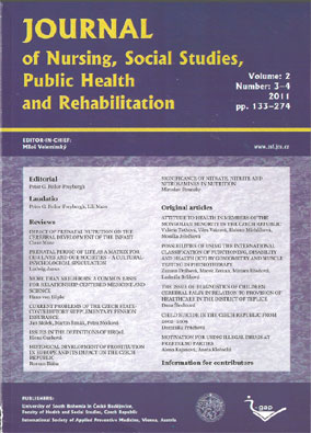Journal of Nursing, Social Studies, Public Health and Rehabilitation